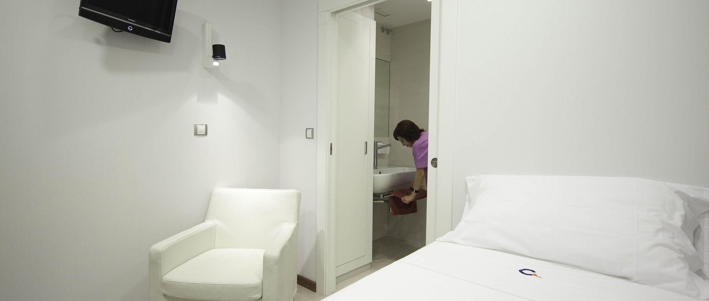 Clínica Crea habitaciones