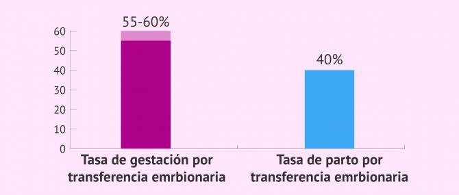 Imagen: La tasa de embarazo es mayor con la doble donación de gametos
