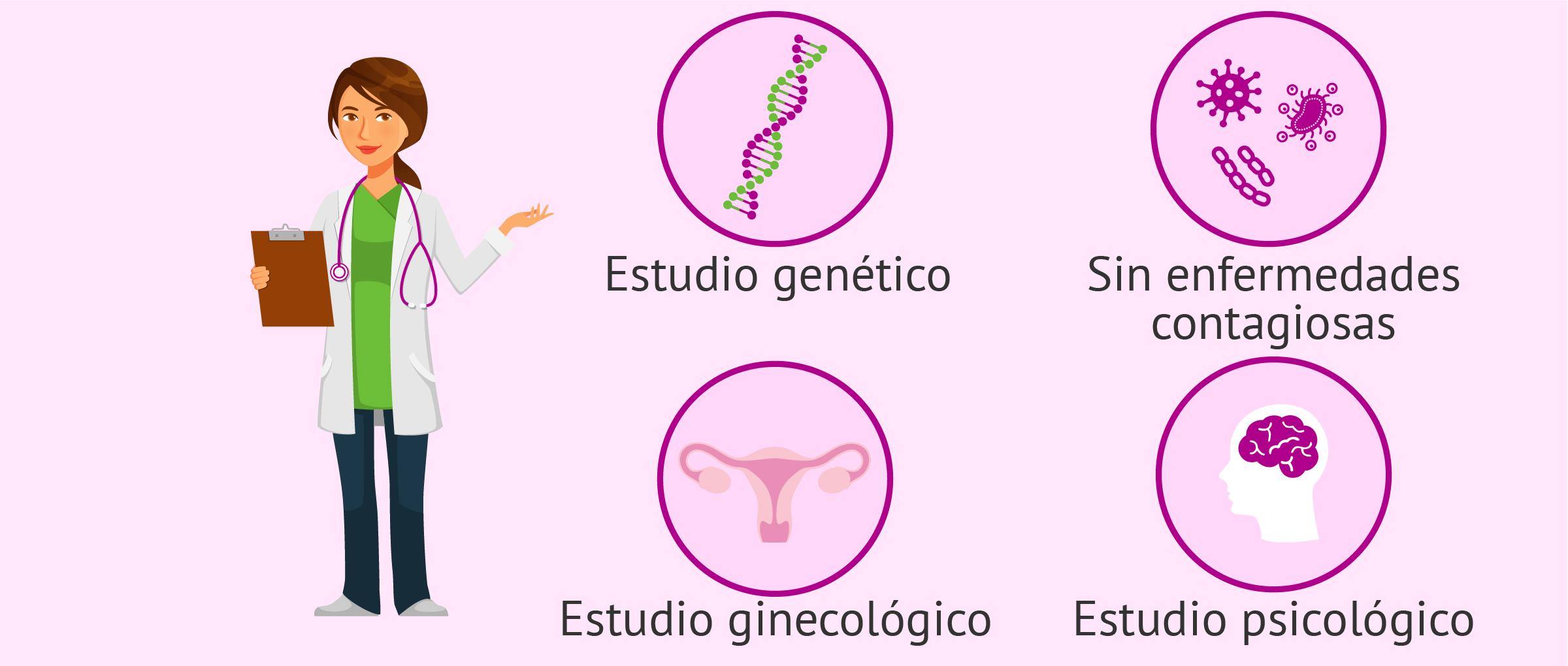 Pruebas que se les realizan a las donantes de óvulos