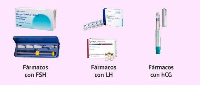 Imagen: Fármacos de las gonadotropinas