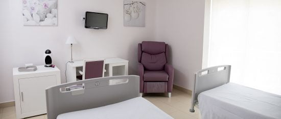Unidad Phi Fertility Center instalaciones habitaciones